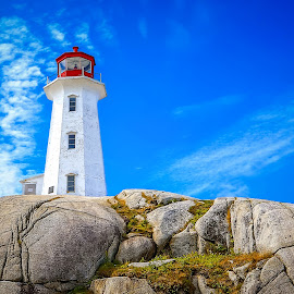 Peggy's Cove Lighthouse by Monica Hall - Buildings & Architecture Public & Historical