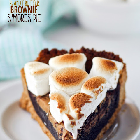 Peanut Butter Brownie S'mores Pie
