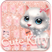 Download Cute kitty Keyboard Theme APK on PC
