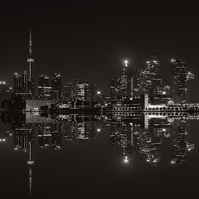 Toronto Skyline by Chris Pepper - City,  Street & Park  Skylines ( skyline, canada, toronto, long exposure )