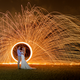 Sparks by Lood Goosen (LWG Photo) - Wedding Bride & Groom ( wedding photography, wedding photographers, wedding day, weddings, wedding, wedding photographer, bride and groom, bride, groom, fire, bride groom )