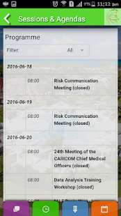 CARPHA Health Conference - screenshot