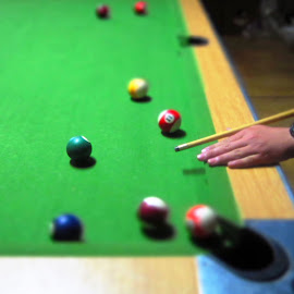 snooker by Dawn Gelderblom - Sports & Fitness Cue sports ( playing, ball, green, sports, game )