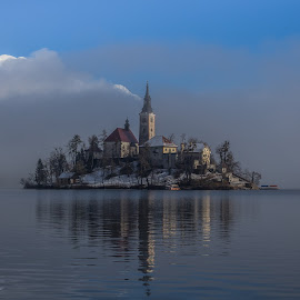 Misty Bled Lake by Miro Zalokar - Buildings & Architecture Other Exteriors