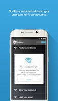 Screenshot of SurfEasy Secure Android VPN