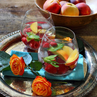 Raspberry Peach Wine Spritzer