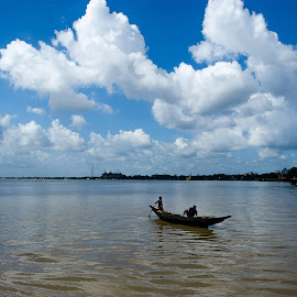 Summer fishing day by Sandipan Das - Landscapes Weather