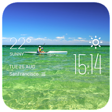 Manzura weather widget/clock