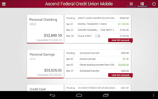 Screenshot of Ascend Federal Credit Union