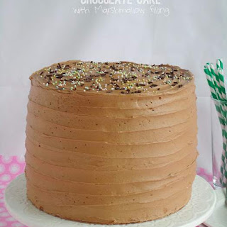 6 Layer Chocolate Cake with Marshmallow Filling