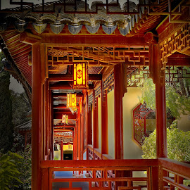 Lights in Chinese park by Michaela Firešová - Buildings & Architecture Public & Historical ( chinese, lights, architecture )