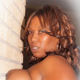 Regina #3 by John Guest - Nudes & Boudoir Artistic Nude ( african american, makeup, hairstyle, skin, eyes )