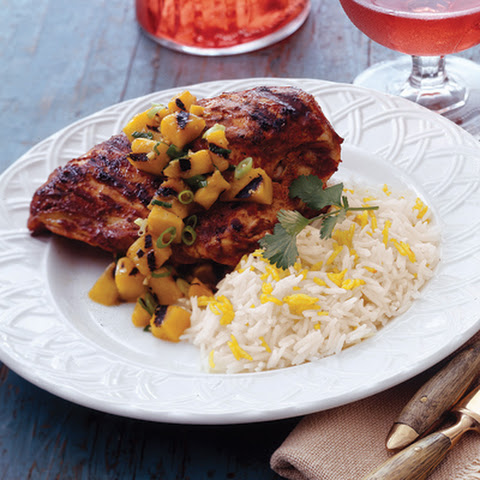 Tandoori Chicken with Grilled Mango Chutney