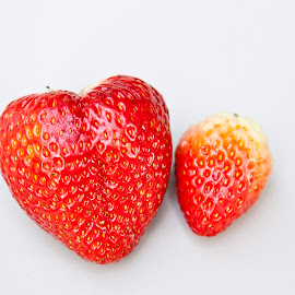 Heart-berry ! by Soumyajit Sarcar - Food & Drink Fruits & Vegetables ( #strawberry, #red_pair, #big_strawberry, #delicious, #red )