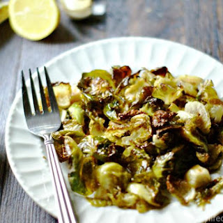 Lemon Garlic Brussels Sprout Chips