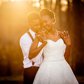 Light of Love by Uday Sripathi - Wedding Bride & Groom ( love, hug, wedding, embrace, couple, sunlight, light,  )