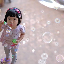 bubbles by Valvie Val - Babies & Children Child Portraits ( photograph, girl, fujifilm, bubbles, photographer, children, photo, photography )