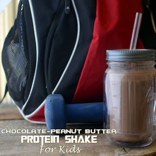 Chocolate Peanut Butter Protein Shake- For Kids!