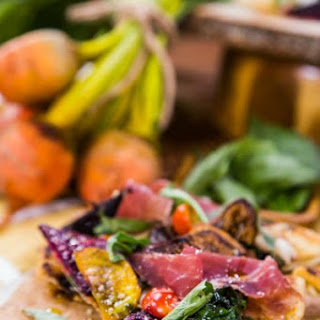 Grilled Goat Cheese Pizza with Figs, Beets, and Arugula