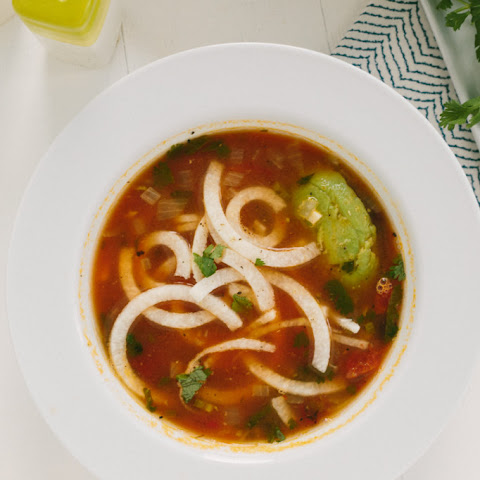 Tortilla Soup with Jicama Noodles