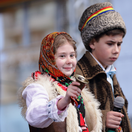Joy by Lucian Andrei - People Street & Candids ( bell, microphone, tricolor, ie, tradition, uratura, holidays, plugusor, romania, bundita )