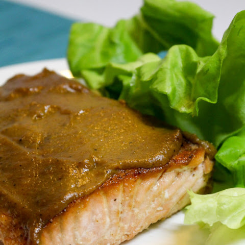 Salmon with Pumpkin Honey Mustard Glaze
