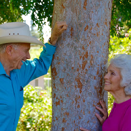 Happily Married For Nearly 60 Years by Kathleen Koehlmoos - People Couples ( living happily ever after, happily married, still got it in their 80's, octagenarians, attractive octagenarian couple )