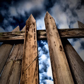 Skycrapper Bamboo 2 by Rony Nofrianto - Artistic Objects Other Objects ( skycrapper bamboo, bamboo, bamboo and sky, bamboo and clouds, bamboo gate, gate )