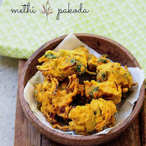 Methi Pakoda Recipe | Fenugreek Leaves Pakodas