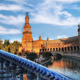 Plaza España,Sevilla by Nelida Dot - Buildings & Architecture Public & Historical ( beautiful, spain, reflection, bridge, building, architecture )