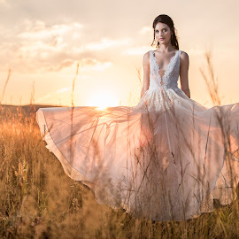 Sunset beauty by Junita Fourie-Stroh - Wedding Bride