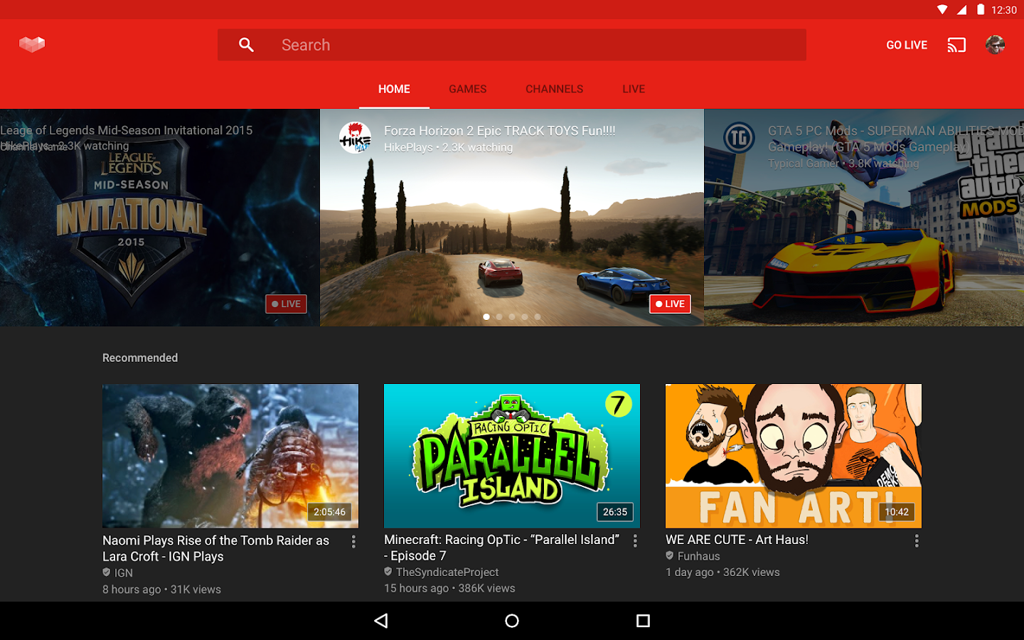 YouTube Gaming Screenshot 6