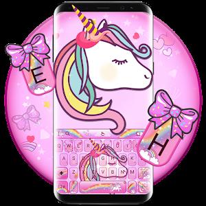 Lovely Cuteness Pink Unicorn Keyboard Theme For PC / Windows 7/8/10 / Mac – Free Download