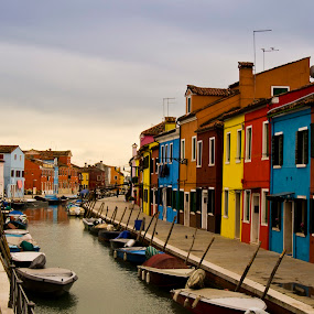 Burano, Italy by Shivani Trehan - Buildings & Architecture Other Exteriors ( color, boats, burano, venice, italy )