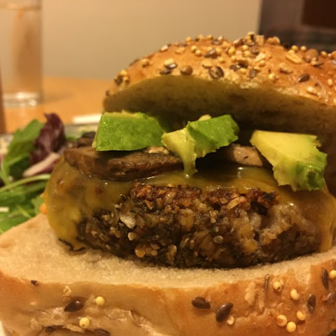 Freekeh Sunflower Burger