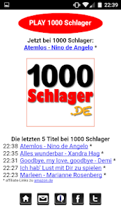 1000 Schlager Player Screenshot