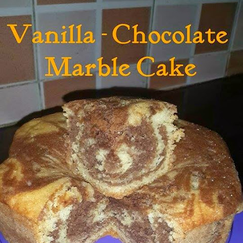 Vanilla-Chocolate Swirled Marble Cake in Cooker