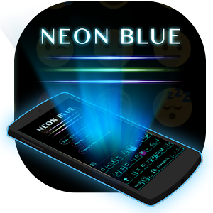 Cool Neon Blue Keyboard Theme For PC