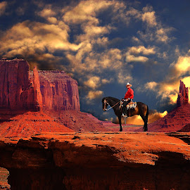Frank Jackson at John Ford Point by Gérard CHATENET - Digital Art Places