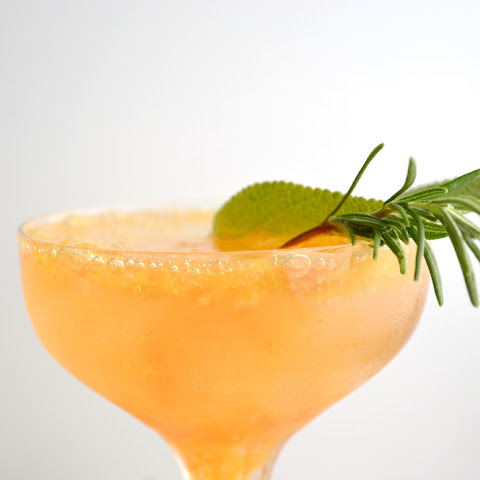 Rosemary Sage & Peach Cocktail