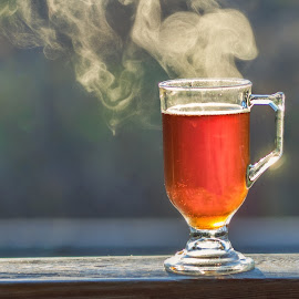 A Steaming hot cup of tea by Becky Kempf - Food & Drink Alcohol & Drinks ( cup, hot, tea, steam )