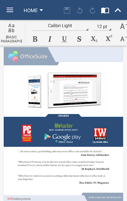 OfficeSuite + PDF Editor screenshots