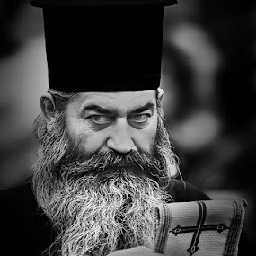 The Priest by Reinhard Latzke - People Portraits of Men ( religion, priest, greece, orthodox )