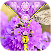 Purple Flower Zipper Locker APK for Bluestacks