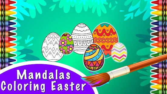 Mandalas Coloring of Easter - screenshot