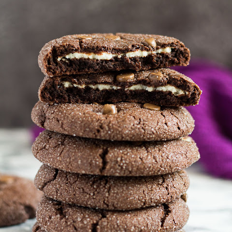 Cheesecake Stuffed Double Chocolate Cookies