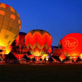 Hot Air Balloon Glow by Debbie Maglothin - Transportation Other