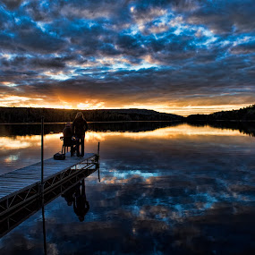At the beach by Peter Stratmoen - Landscapes Sunsets & Sunrises ( water, cabin, minnesota, lakes, fishing, nikon,  )