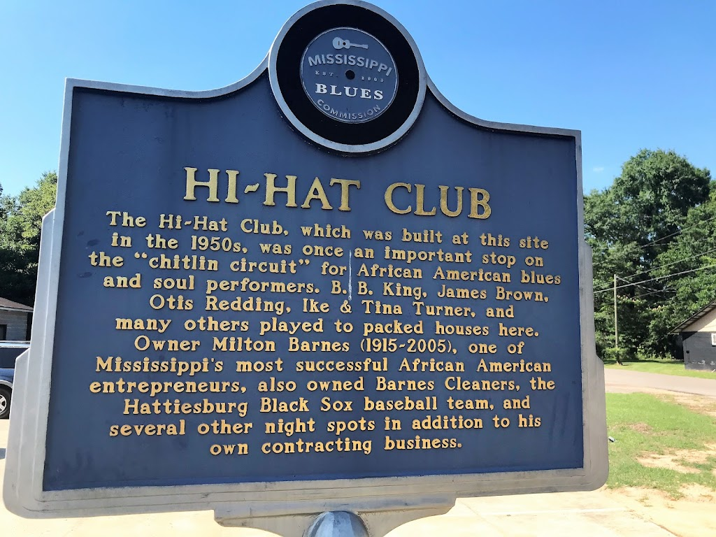 """The Hi-Hat Club, which was built at this site in the 1950s, was once an important stop on the """"chitlin circuit"""" for African American blues and soul performers. B. B. King, James Brown, Otis Redding, ..."""