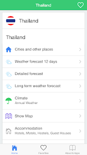 Thailand weather, forecast - screenshot